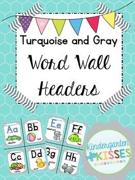 Teal Word Wall Headers