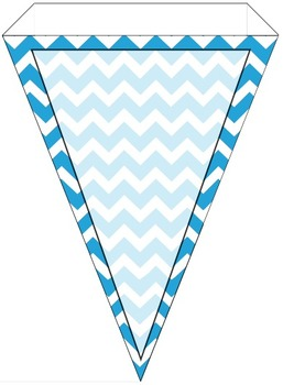 Teal Chevron and Solid Welcome Banner