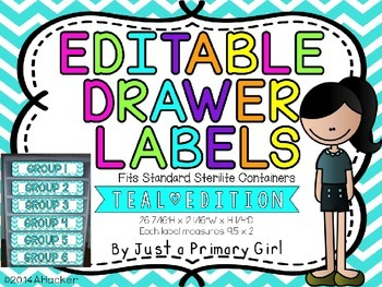 Teal ChevronEditable Drawer Labels