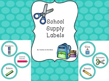 Teal Circle Supply Labels