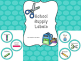 Teal Circle Supply Labels