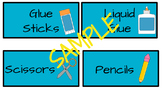 Teal Classroom Supply Labels