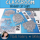 Teal Classroom Theme Decor - Behavior Chart Editable