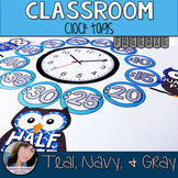 Teal Classroom Theme Decor - Freebie  Owl Clock