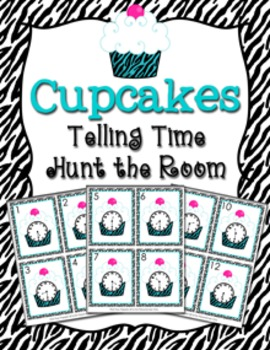Teal Cupcakes Time to the Half Hour Hunt the Room
