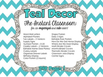Teal Decor - The Instant Classroom