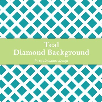 Teal Diamond Pattern Background