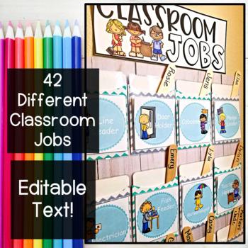 Teal Editable Job Chart Cards