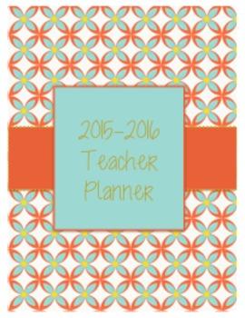 Teal Flower Teacher Planner