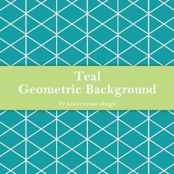 Teal Geometric Background