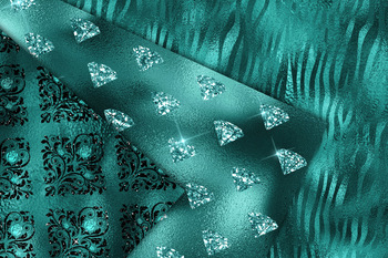 Teal Glam Digital Paper - seamless pattern backgrounds