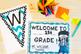 Teal, Gray, & Black Themed Classroom Decor Set Editable