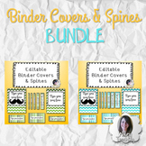 EDITABLE Binder Covers and Spines - BUNDLE Teal & Green Ombre