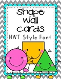 Teal-Grey-Yellow Shapes Wall Cards