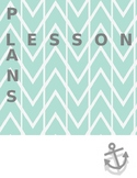 Teal Lesson Plan Binder Cover