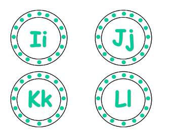 Teal Letters Set