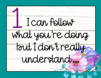 Teal Levels of Understanding
