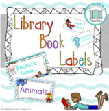 Teal Library labels - Fiction and Non-Fiction