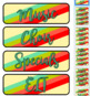 Teal Lime Coral & Cinnamon Themed Pocket Chart Subject Schedule Cards & Calendar