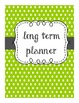 Teal & Lime Lesson Plan Covers