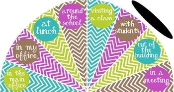 Teal, Lime and Purple - Where is the counselor? sign