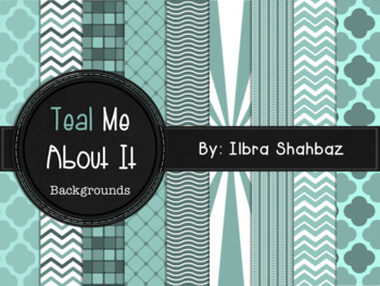 Teal Me About It Digital Paper Backgrounds