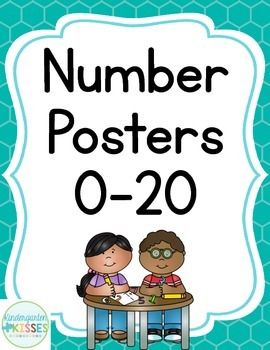 Teal Number Posters