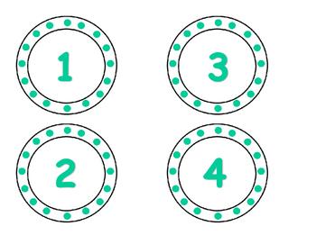 Teal Number Set
