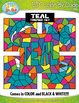 Teal Objects Color By Code Clipart {Zip-A-Dee-Doo-Dah Designs}
