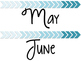 Teal Ombre Arrow Calendar