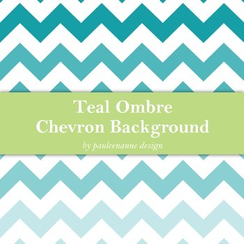 Teal Ombre Chevron Background