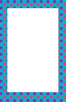 Teal, Pink, and Purple Polka dot Border