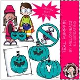 Teal Pumpkin clip art - Mini - Melonheadz Clipart