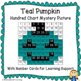 Teal Pumpkin for Food Allergy Awareness Halloween Hundred Chart Mystery Picture