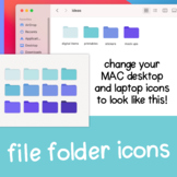 Teal + Purple Gradient Desktop File Folders for MAC / Appl