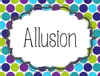 Teal & Purple Polka Dots Found In Your Book! Figurative Language Bulletin Board