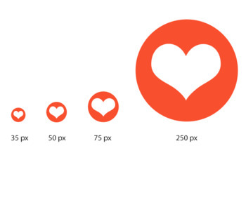 Social Media Icons: Orange, Instagram, Pinterest, Snapchat, 25 icons, 4 sizes