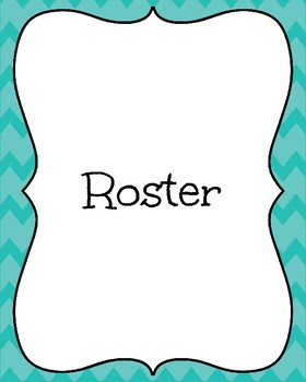 Teal Teacher Binder Freebie