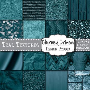 Teal Texture Background Digtial Paper 1335
