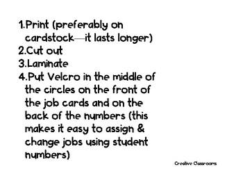 Teal Themed Classroom Economy Jobs