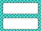 Teal Tile Classroom Labels and Tags