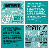 Teal Turquoise Aqua Motivational Poster Pack- Pretty Class