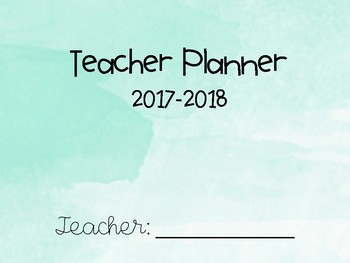 Teal Watercolor Teacher Planner & To-Do Lists - FREE UPDATES!!!