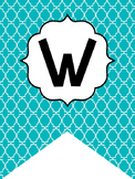 Teal Welcome Bunting. Printable Classroom Accessories.