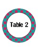 Teal With Pink Dots Table Signs