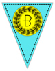 Teal & Yellow Alphabet & Numbers Pennant Banner