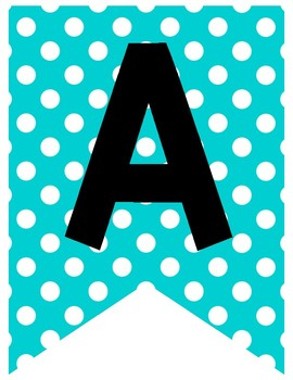 Teal & Yellow Classroom Decor: Banners Large