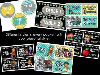Teal & Yellow Classroom Decor: Bundle