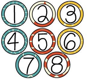Teal, Yellow, and Orange Calendar Set