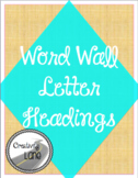 Teal and Black Word Wall Letters